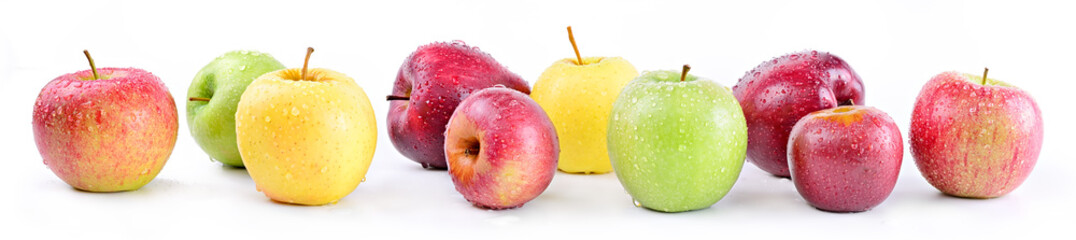 Apple varieties: annurca, stark delicious, fuji, granny smith, golden delicious, royal gala © fabiomax