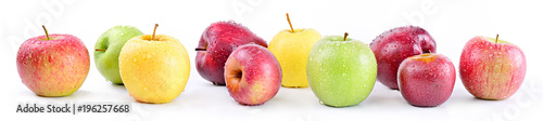 Apple varieties: annurca, stark delicious, fuji, granny smith, golden delicious, royal gala - 196257668