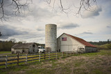 Old Barn with silo - 196260857