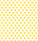 Geometrical seamless pattern with little stars. Yellow stars on the white background.