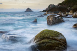long exposure photography of beautiful sea scape koh tao thailand - 196268642