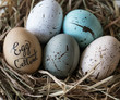 Closeup of easter eggs - 196273201