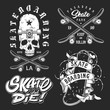 Set of skateboarding emblems