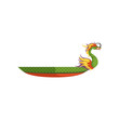 Dragon Boat, Chinese traditional Festival vector Illustration on a white background