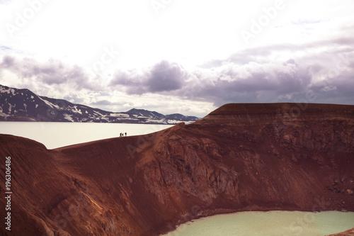 Aluminium Galyna A. Lake in Iceland