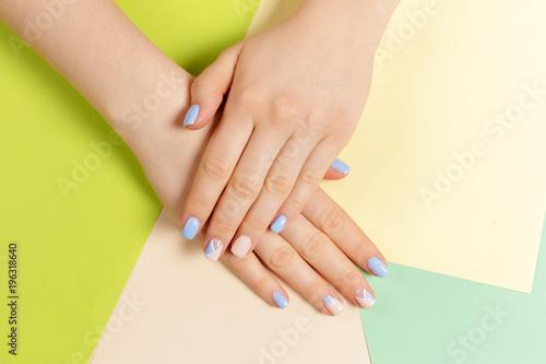 Foto op Plexiglas Manicure Stylish trendy female manicure.