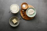 Bechamel white sauce ingredients - 196323420