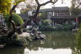 A traditional Chinese garden in Tongli, Suzhou of China - 196325836