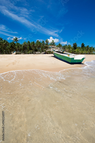 Fotobehang Tropical strand beach and tropical sea