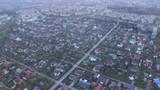 Flight above the suburbs in palanga - 196327420