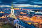 Bratislava. Cityscape image of Bratislava, capital city of Slovakia during dramatic spring sunrise.