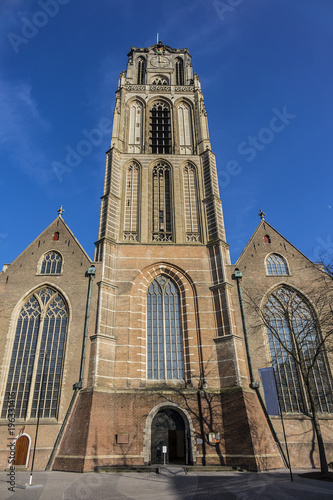 Fotobehang Rotterdam St. Lawrence Church (Grote of Sint-Laurenskerk, 1449 - 1525) - Protestant church in the town centre of Rotterdam. It is the only remnant of the medieval city of Rotterdam. The Netherland.