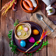 easter decoration with polish easter soup - 196332629