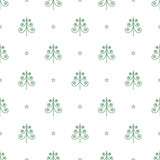 vector seamless pattern of green Christmas trees and stars