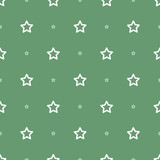 vector seamless star pattern white or green