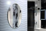 Piękna nowoczesna łazienka z kabiną prysznicową - 196355895