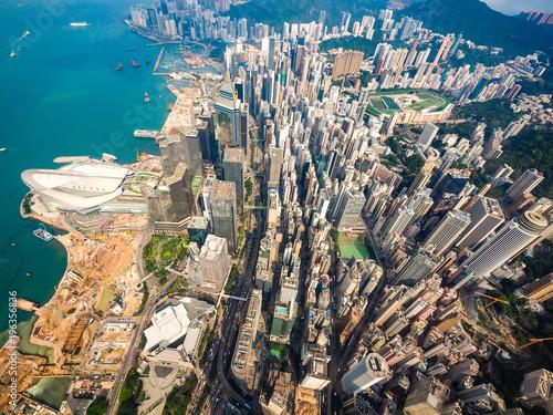 Poster Aerial photo of Hong Kong Skyline