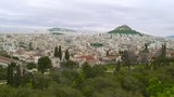 Modern Athens Greece. The beautiful and classically constructed city of Athens, viewed from a popular overlook. - 196359028