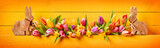 Pretty colorful Easter panorama banner