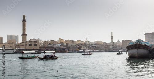Foto op Canvas Dubai Dubai old harbour panorama
