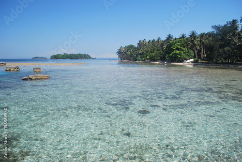 Fotobehang Tropical strand tropical beach on indonesia