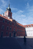 Girl walking in the Royal Castle in the Old town - Warsaw - Poland - 196371670