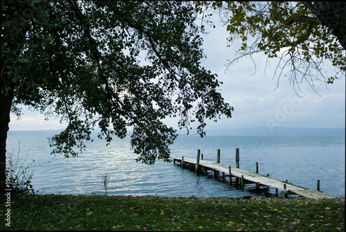 Aluminium Pier Pier On The Lake wallpaper