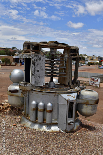 Deurstickers UFO Australia, Coober Pedy, UFO
