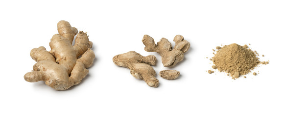 Fresh, dried and powder ginger © Picture Partners