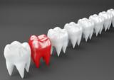 Dente humano modelado, renderização 3D - 196376834