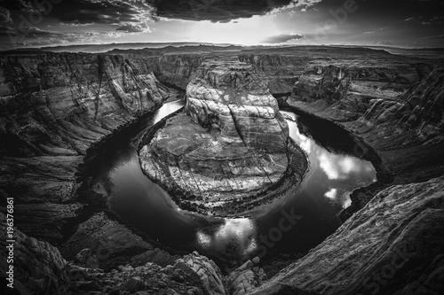 Czarno-biały Horseshoe bend - Utah - Arizona - America