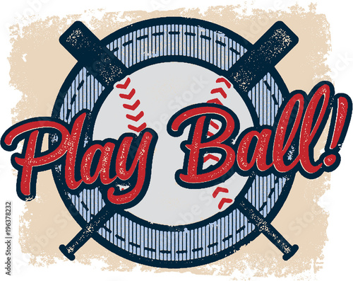 Aluminium Vintage Poster Vintage Play Baseball Sports Design