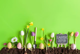 Easter flower bed background