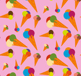 Pattern with colored ice cream