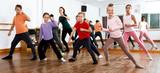 Children studying modern style dance - 196389469