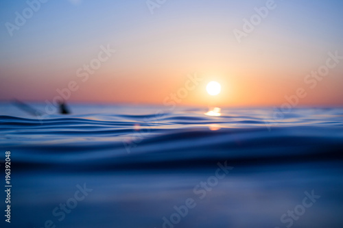 Tuinposter Zee zonsondergang Watergate Bay - Newquay - Cornwall - North Coast - Surf - Wave Photography - Water Background - Wave Background - Seascape