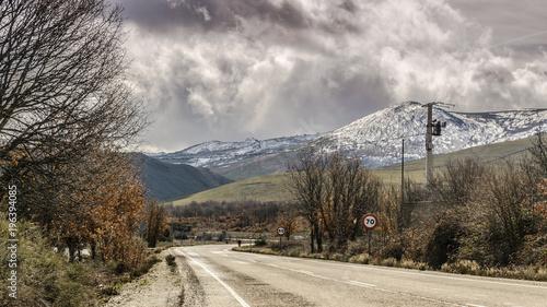 Keuken foto achterwand Bleke violet carretera de montaña