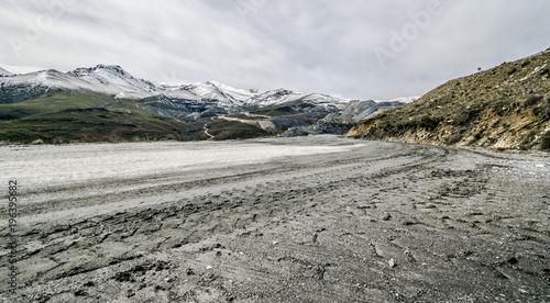 Foto op Canvas Grijs montaña