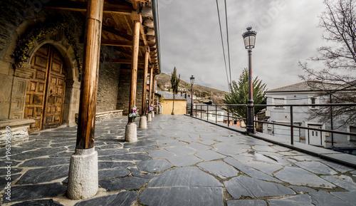 Aluminium Smalle straatjes pueblo de montaña
