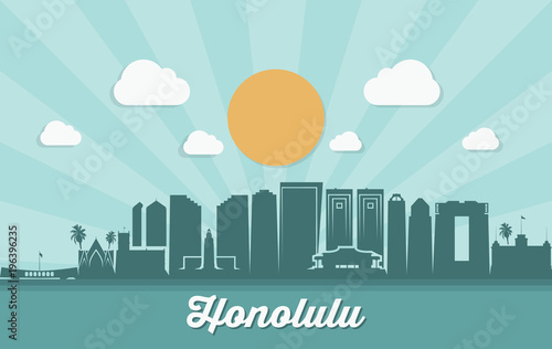 Honolulu skyline - Hawaii