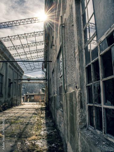 Aluminium Oude verlaten gebouwen Abandoned Factory