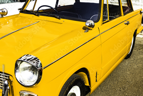 Yellow Vintage Car - 196400881