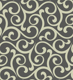 Floral pattern. Wallpaper baroque, damask. Seamless vector background. Grey ornament - 196406039