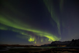 Northern Lights (Aurora Borealis) over Lofoten, Norway. - 196406281