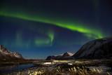Northern Lights (Aurora Borealis) over Lofoten, Norway.