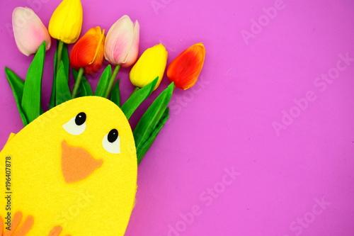 Leinwanddruck Bild ostern.flower background