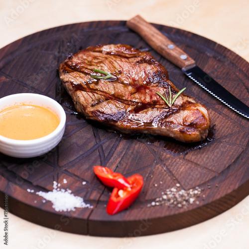Restaurant dish - beef steak