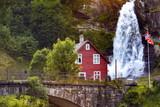 steinsdalsfossen waterfall in the  norway - 196416462