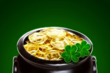 magic pot of gold, clover, st. Patricks Day