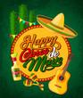 Cinco de Mayo banner with fiesta party symbols